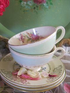 vintage tea cups