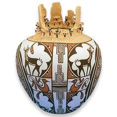 Native American Deer Pottery - by Zuni Potter Noreen Simplicio