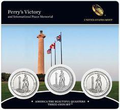 2013 PDS Perry/'s Victory Quarter Set Nat Park ATB Perrys P D S ~ 3 UNC 2nds