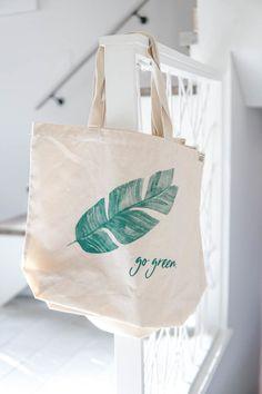 "EatMoveRest ""Go Green"" Reusable Eco-Friendly Zero-Waste Recycled Cotton Market Tote Go Green, Green Bag, Eco Friendly Bags, Diy Tote Bag, Jute Bags, Fabric Bags, Market Bag, Printed Bags, Reusable Bags"