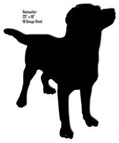 Rottweiler Silhouette Animal Wall Art Laser Cut Out. Vogel Silhouette, Silhouette Clip Art, Silhouette Images, Animal Silhouette, Labrador Silhouette, Vector Dog, Vector Free, Vector Graphics, Dog Stencil