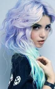 kolorowe włosy o