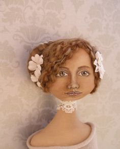 Ok, so I'm not good at 'blowing my own trumpet', I admit it. People keep asking to see the picture of my doll in Patti, Elinor and Barbara'. Doll Face, Fabric Art, Softies, Beautiful Dolls, Art Dolls, New Books, Folk Art, Sculpting, Doll Clothes