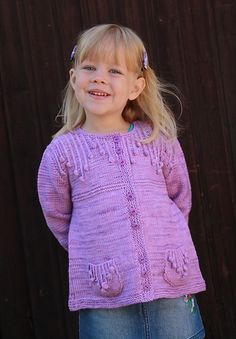 Free knitting pattern for Simple Cardi