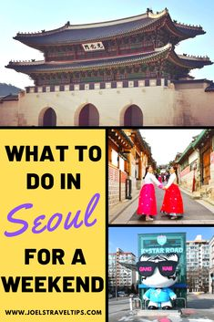 If you're looking to spend a weekend in Seoul then this is the guide for you. With more than 20 ideas, your weekend in Seoul will be an amazing experience. Travel Advice, Travel Guides, Travel Tips, South Korea Travel, Asia Travel, Travel Abroad, Amazing Destinations, Travel Destinations, Backpacking Asia