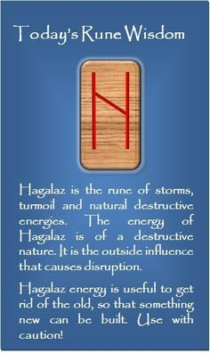 Hagalaz - the rune of hail, disruptive forces from nature, and beyond your control.