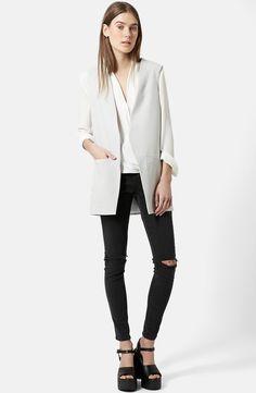 Topshop 'Molly' Longline Vest