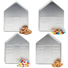 These are great for your Real Estate Company, Home Lending, Home Finance, Christmas Gift-Snack-Trail mix Boxes #realestate #homemortgage #Habitatforhumanity