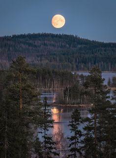 """November by Asko Kuittinen"" Espanto, Sleeping Under The Stars, Beautiful Moon, City Landscape, Winter Travel, What Is Like, Amazing Nature, Nature Photos, Night Skies"