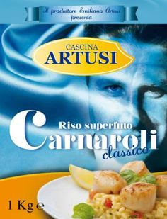 Riso Carnaroli, lavorato biondo conserva profumo e consistenza, dal chicco ben separato nel risotto.