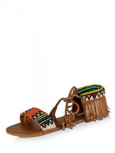 f1361b370a93 KOOVS Aztec Head Sandals purchase from koovs.com Beaded Sandals