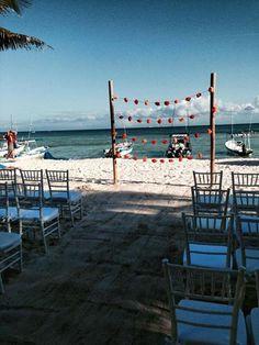 Riviera Maya Weddings bodas / Gazebo con guirnaldas / Guirnaldas Gazebo