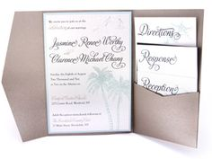 DIY pocket fold invitation site (you can buy just the pocket fold itself and then make the rest of the invitation yourself)