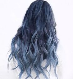 The 13 Hottest Mermaid Hair Color Ideas You'll See in 2019 - Style My Hairs Cute Hair Colors, Hair Dye Colors, Ombre Hair Color, Cool Hair Color, Dyed Hair Blue, Blue Ombre Hair, Pastel Hair Dye, Warm Hair Colors, Blue Gray Hair