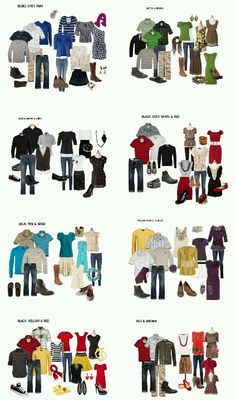 What to Wear for Family Pictures This was so helpful! What to Wear for Family Pictures - so you look good together! Family Picture Colors, Fall Family Pictures, Fall Photos, Family Pics, Family Photos What To Wear, Outfits For Family Pictures, Fall Family Picture Outfits, Extended Family Pictures, Christmas Pictures