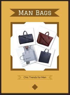 Man Bags - Chic Fashion Trends for Men #manpurse #satchel #briefcase #man-bag #murse,