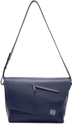 fb28df450576fd LOEWE - Navy Leather Anton Messenger Bag Womens Messenger Bag, Personalised  Gifts For Him,