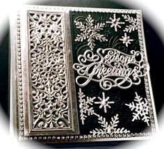 IC505, Silver and Black Season's Greetings by Cards_By_America - Cards and Paper Crafts at Splitcoaststampers