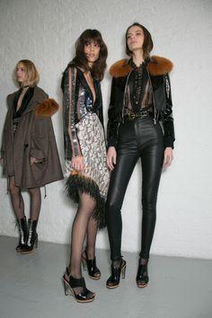 96 backstage photos of Rodarte at New York Fashion Week Fall 2015 | Stylebistro.com