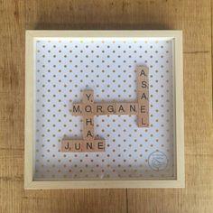 Cadre Scrabble Famille - Bois Clair – Tata Bulle