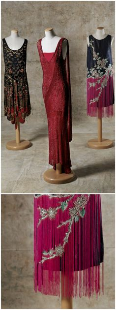 Chanel (1920–28): dresses that belonged to Princess Emilia Altieri. Donated by Princess Domietta del Drago. Tirelli Costumi authentic collection. CLICK THROUGH FOR BIGGER IMAGES.
