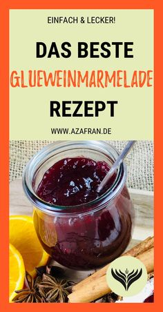 Fruity mulled wine jam with cherry recipe - Our delicious mulled wine jam recipe always works! Cherry Recipes, Jam Recipes, Baby Food Recipes, Chutneys, How To Make Dough, Food To Make, Fermented Bread, Diy Snacks, Mulled Wine