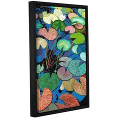 ArtWall Allan Friedlander Sparkling Pond Gallery-wrapped Floater-framed Canvas, Size: 16 x 24, Blue