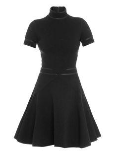 Givenchy Satin trimmed high neck dress