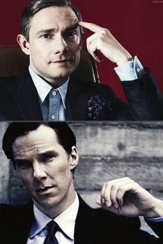 Martin Freeman and Benedict Cumberbatch for Esquire...such classy men <3