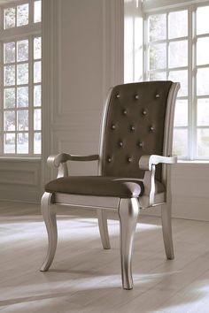 Ashley Birlanny Gray Dining Upholstered Arm Chair 2 Cn