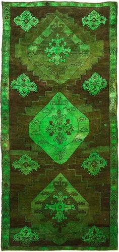 Green ABC Carpet