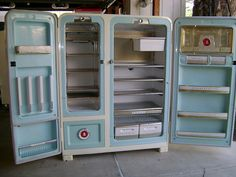 Retro french door refrigerator.