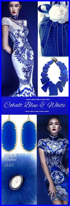'' Cobalt Blue & White '' by Reyhan S.D.