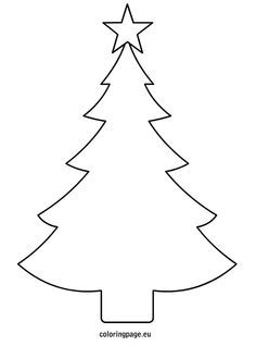 christmas tree template printable coloring page