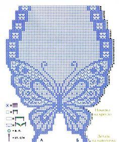 Delicadezas en crochet Gabriela: Juego ; Camino de mesa y cojín diseño mariposa