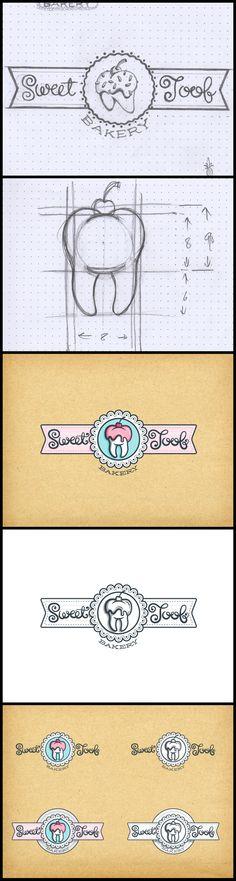 Sweet Toof bakery identity - Option02