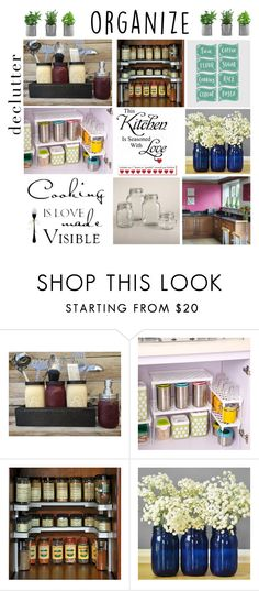 """""""Declutter n Organize the Kitchen"""" by mstrendy01 ❤ liked on Polyvore featuring interior, interiors, interior design, home, home decor, interior decorating, Improvements, Cost Plus World Market, kitchen and organize"""