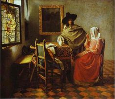 The Glass of Wine From Jan Vermeer