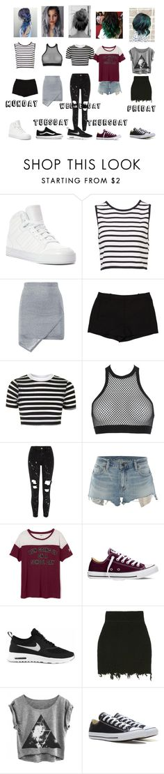 """Summer week!"" by kayltjevds05 on Polyvore featuring mode, adidas, Boohoo, L'Agence, Topshop, Dsquared2, Denim & Supply by Ralph Lauren, Converse, Vans en NIKE"