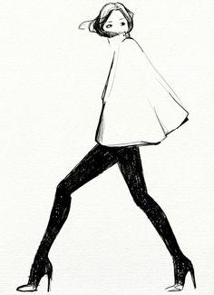 Fash sketch #illustration #fashion