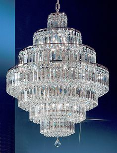 """View the Classic Lighting 1603-CH 35"""" Crystal Chandelier from the Ambassador Collection at LightingDirect.com."""