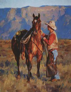 """""""Ready to Go"""" by Jason Rich (Cowboy Artist)"""