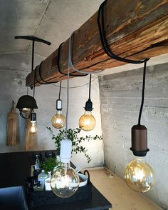 Diy And Crafts, Lamps, Cabin, Ceiling Lights, Lighting, Kitchen, Instagram Posts, Home Decor, Bulbs