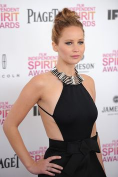 "Jennifer Lawrence in Lanvin. I can't belive she's criticized for being ""fat"". She's gorgeous."