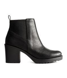 Ankleboots mit Stretcheinsatz   Schwarz   Damen   H&M DE