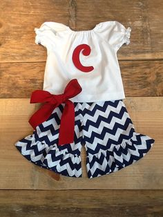 Girls peasant shirt & ruffle shorts capris or by EverythingSorella, $56.50