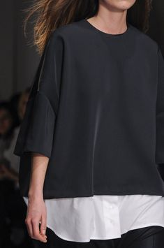 Jacquemus Fall 2014 paris/ sleeve with dart.  Could have zipper above seam on sleeve