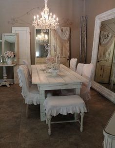 Ruffles and rustic table