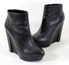 Theory Leather Wedge Ankle Boots find great cheap price 100% original cheap price XyEIS
