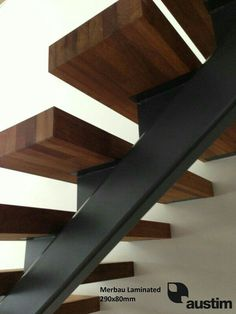 Replacing the stair treads in a house could be a required fixing or upgrade – or… Replacing the stair treads in a house could be a required fixing or upgrade – or a significant yet budget friendly visual remodelling. Loft Stairs, Basement Stairs, House Stairs, Basement Ideas, Basement Plans, Basement Renovations, Stair Detail, Floating Staircase, Modern Stairs